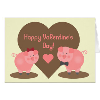 Valentine's Day - Pigs in the Mud Card