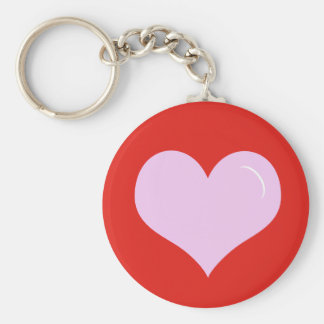 Valentine's Day Pink Heart Key Ring