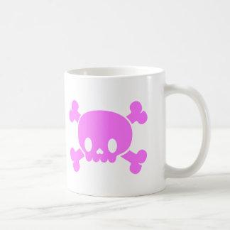 Valentine's Day Pink Heart Skull Coffee Mug
