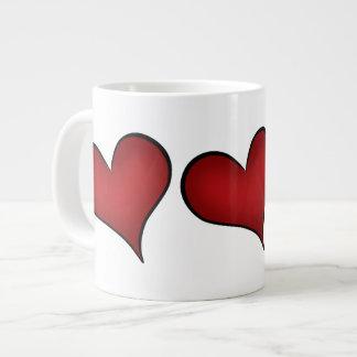 Valentine's Day red hearts Large Coffee Mug