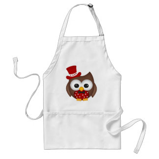 Valentine's Day Red Owl Standard Apron