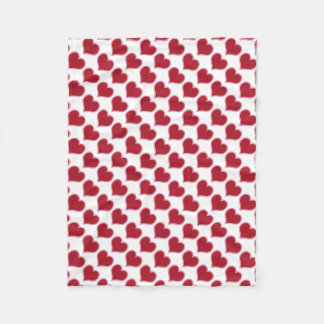 Valentine's Day Red Pink Hearts Love Fleece Blanket