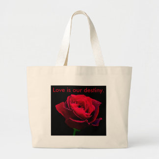 Valentines Day Red Rose Canvas Bags