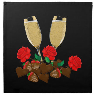 Valentine's day romantic design napkin