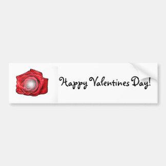 Valentines Day Rose Art Car Bumper Sticker