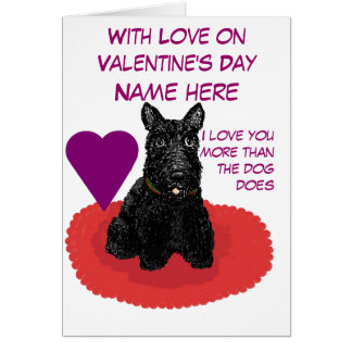Valentine's Day Scottish Terrier Customizable Card
