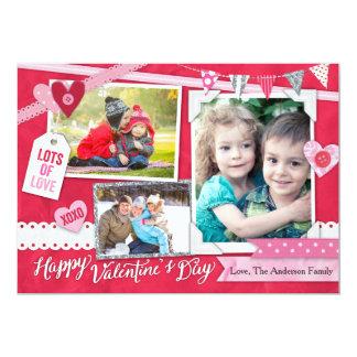 Valentine's Day Scrapbook 13 Cm X 18 Cm Invitation Card