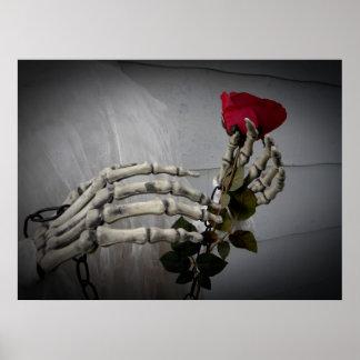 Valentines Day skeleton Poster