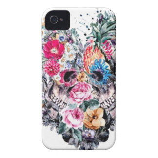 Valentine's day skull with hearts iPhone 4 cover