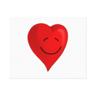 Valentine's Day Smiling Heart Canvas Print