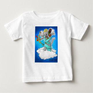 Valentine's Day Smokey Grey Cupid Cat Baby T-Shirt