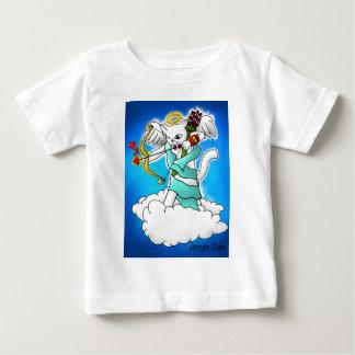 Valentine's Day Snow White Cupid Cat Baby T-Shirt