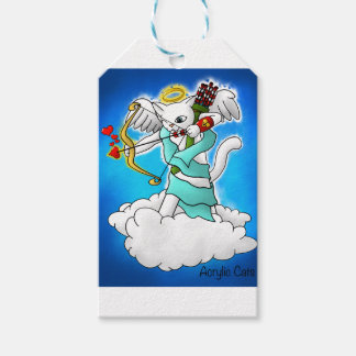 Valentine's Day Snow White Cupid Cat Gift Tags