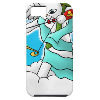 Valentine's Day Snow White Cupid Cat iPhone 5 Case