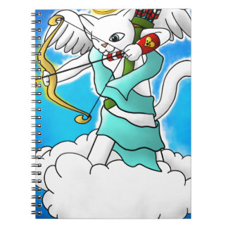 Valentine's Day Snow White Cupid Cat Notebooks
