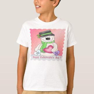 Valentine's Day Snowman Kid's T-Shirt