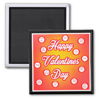 Valentines Day Square Magnet
