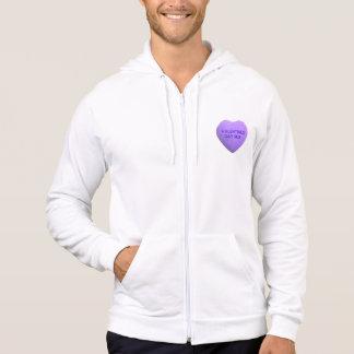 Valentines Day Suck Purple Candy Heart Hoodie