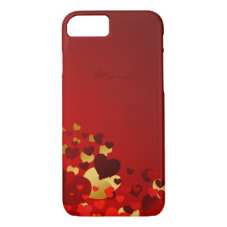 valentines day sweet hearts with name iPhone 7 case