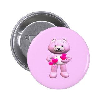 Valentine's Day Teddy Bear 6 Cm Round Badge