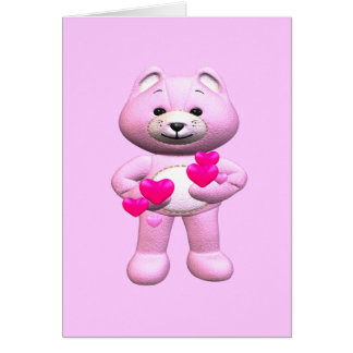 Valentine's Day Teddy Bear Greeting Card