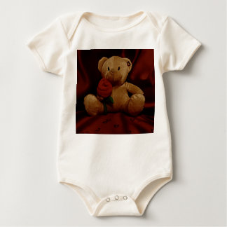 Valentine's Day Teddy Bear Baby Bodysuits