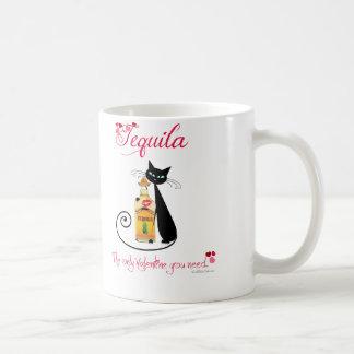 Valentine's Day Tequila Cat Coffee Mug