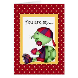 Valentine's Day Turtle greeting card