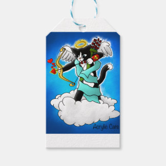 Valentine's Day Tuxedo Cupid Cat Gift Tags