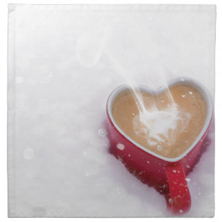 Valentine's Day Valentine Love Coffee Heart Mug Napkin