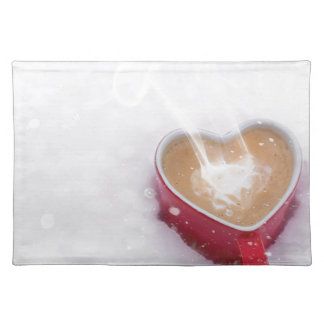 Valentine's Day Valentine Love Coffee Heart Mug Placemat