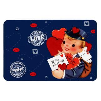 Valentine's Day Vintage Style Gift Magnet
