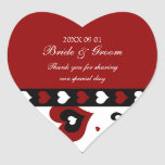 Valentine's Day Wedding Favour Tags Red Hearts Heart Stickers