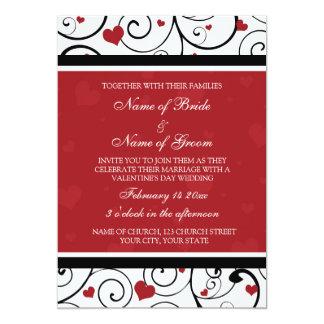 Valentine's Day Wedding Invitation Cards