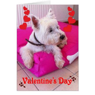 Valentine's Day Westie Card