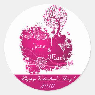 Valentine's Day Wine Bottle Labels Round Stickers