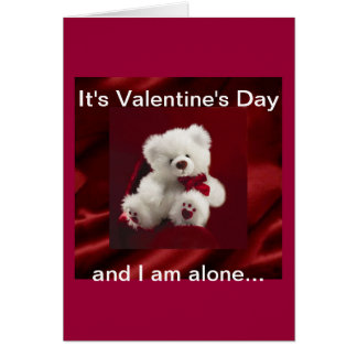 Valentine's Day wish we were together tonight  Car Greeting Card