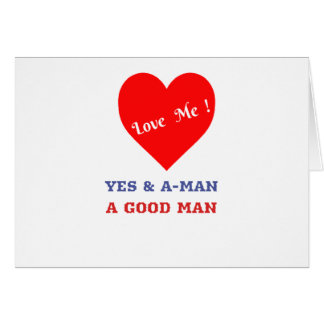 VALENTINES DAY YES AND AMEN  T-SHIRT CARD