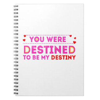 VALENTINES DAY YOU ARE MY DESTINY SPIRAL NOTEBOOKS