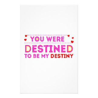 VALENTINES DAY YOU ARE MY DESTINY STATIONERY