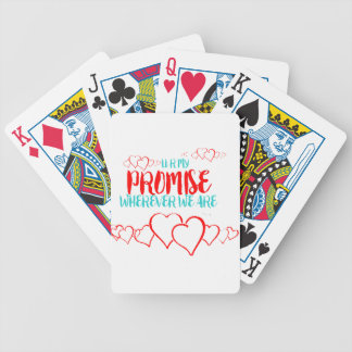 VALENTINES DAY YOU ARE MY PROMISE BICYCLE PLAYING CARDS