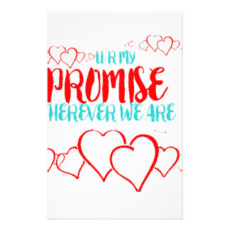 VALENTINES DAY YOU ARE MY PROMISE STATIONERY