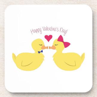 Valentines Ducks Beverage Coaster