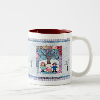Valentines Forever Two-Tone Coffee Mug