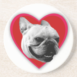 Valentine's French Bulldog Coasters