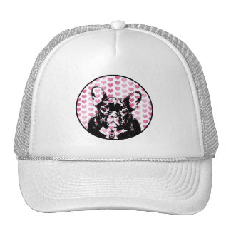 Valentines - french Bulldog Silhouette Hat