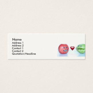 Valentines funny fruit mini business card
