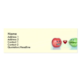 Valentines funny fruit pack of skinny business cards