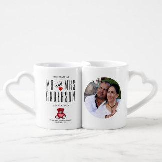 Valentines Gifts for Husband Wife - PHOTO Couple Coffee Mug Set