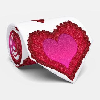 Valentines Glass Hearts Tie